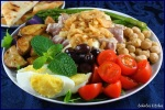large plate of food