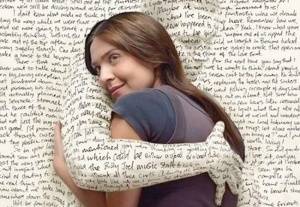 hugged by words